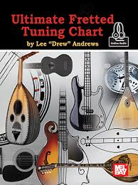 Bass Tuning Chart Ultimate Fretted Tuning Chart Chart Online Audio Mel Bay