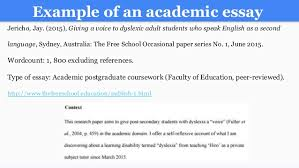 writing an a college essay paper example of an academic essay