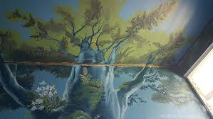 enchanted forest mural the mive tree when the bed is in place the