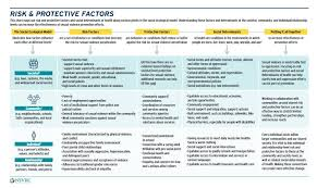 Risk And Protective Factors Chart Introducing The Risk And Protective Factors Infographic