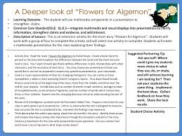 flowers for algernon task card