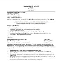 Sample Federal Resume Ksa Creating A Federal Resume Civil Zen