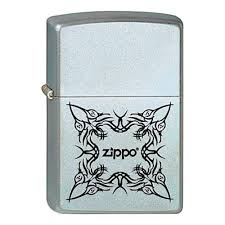 <b>Зажигалка ZIPPO Tattoo</b> Design Satin Chrome, никеле-хромовое ...