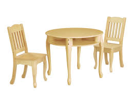 children 039 s windsor round table and chairs set natural