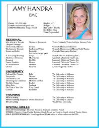 Acting Resume Example Cool Film Acting Resumes Bire60andwap