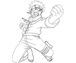 Small Picture Coloring Page Naruto Nine Tails Mode Coloring Pages For All Ages