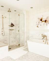 triptych art over freestanding bathtub
