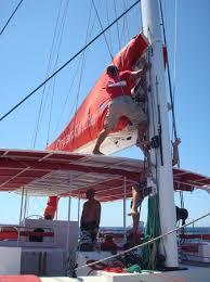 Dream Catcher Boat Santorini Dream Catcher lifting the sails Picture of Santorini Sailing 26