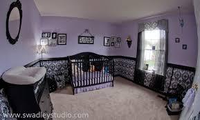 purple girl nursery   Juniper\u0027s Nurseryfeaturing wallcovering by ...