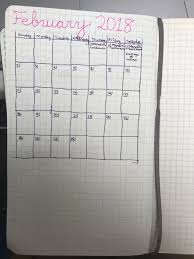 My First Attempt At A Monthly Spread Moleskine Grid Notebook The