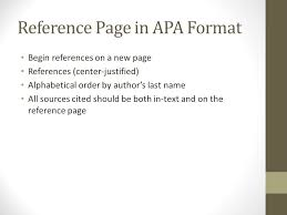 Apa Style Reference Page Apa Format Style Reference Page Best Custom Paper Writing