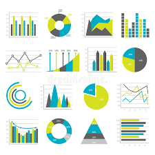 Various Graphs And Charts Graphs Flat Icons Set Stock Vector Illustration Of Business