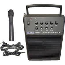 sound system. amplivox sound systems mity-vox - portable battery powered pa system