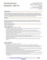 Example Of Catering Contract Catering Director Resume Samples Qwikresume