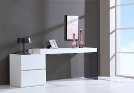 image of contemporary drawer white high gloss office desk modern glass desk office elegant