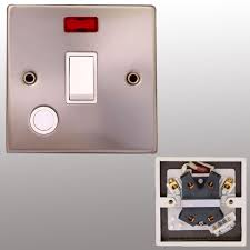 Brushed Steel Light Switches And Sockets Electric Satin Chrome Light Switch Socket Brushed Steel Matt Silver Wall Plug By Powerstar