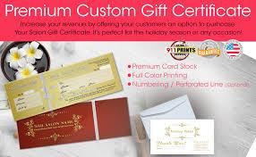 Nail Spa Gift Certificate Envelope Nsd Gct029 911prints 24hr Printing Marketing Services