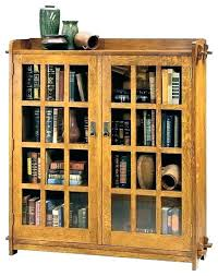 door bookshelves glass bookshelf black bookcase with doors bookcases tall stained wooden barn wood solid