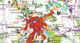 Маршруты для самостоятельных путешествий на горном велосипеде и  карта маршрутов выезда из Симферополя от аэропорта и жд вокзала на горном велосипеде в
