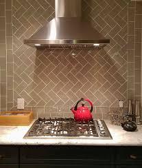 taupe glass subway tile kitchen backsplash subway tile