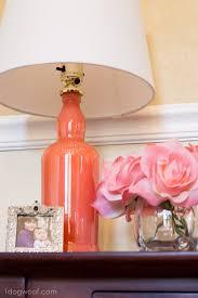 diy painted bottle lamp 1dogwoof com