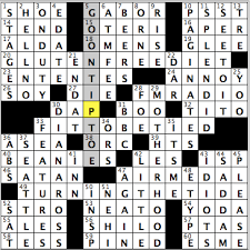 Decorative Pitchers Crossword Friday August 100 100 98