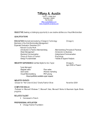 Agreeable Resume Examples Visual Merchandising For Sample Resumes