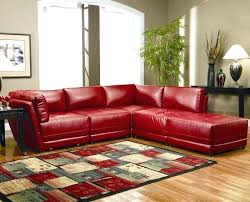 red leather sectional couch with ottoman sofa what colour curtains and black