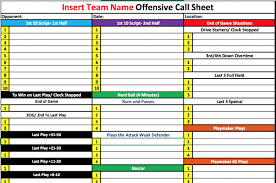 Play Call Sheet Template Letter Template