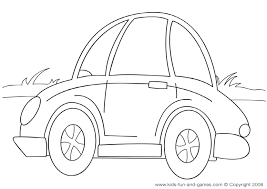 Small Picture Car Coloring Page