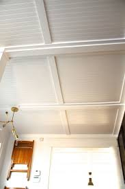 beadboard ceiling with drop ceiling tiles 2 4 and sputnik chandelier also window treatments