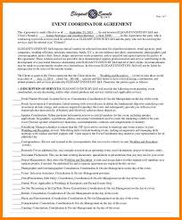 Event Planning Services Agreement 5 Event Contract Agreement Sample Business Opportunity