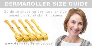 Dermaroller Depth Chart Dermaroller Size Guide Based On Facial Skin Thickness