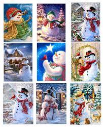 5D DIY Diamond painting <b>Snow</b> Rabbit Doggy Snowfield <b>scene</b> ...