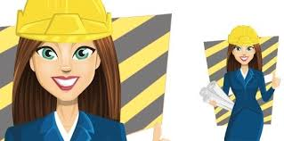 Image result for cartoon of engineering girl