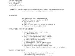 Resume Examples High School Graduate No Experience Resume Examples For Studentsith Little Experience Jobs Unique 21