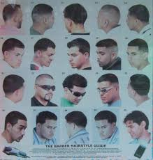 Barber Hairstyles Chart Black Men Haircuts Chart The Barber Hairstyle Guide