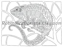 Chameleon Pens Colouring Pages Coloring Page For Adults Pdf Veiled