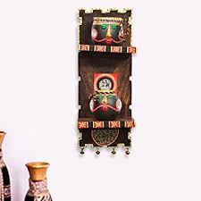 Small Picture Amazoncom ExclusiveLane Wooden Wall Shelf With Terracotta Warli