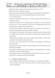 Method Of Statement Sample Classy Building Work Method Statement Cm Ms Bw 48