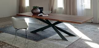 Solid Wood Modern Dining Table Tables Fixes Spyder Wood Cattelan Italia Divine Dining