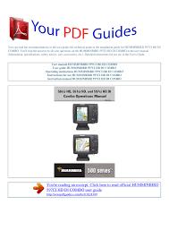 Operating Instructions Humminbird 597ci Hd Di Combo
