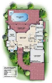 Small Picture 2208 sq ft Floor Plans for this set of Mediterranean style