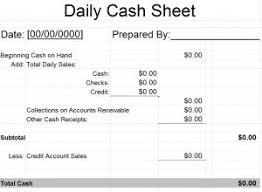 cash balance sheet template daily cash sheet template free word templates
