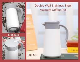Stainless steel body, pp cup and handle, glass refill inner. Steel Vacuum Coffee Pot For Home Rs 600 Unit Shivam Collections Id 21884834862