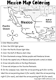 Small Picture mexico coloring activities eslthemesMexico Map Coloring