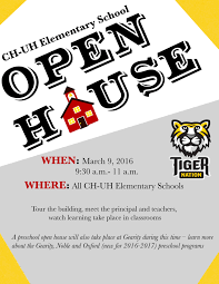 Open House Flyers For School Hashtag Bg