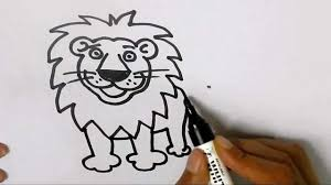 lion face drawing for kids. Wonderful Face How To Draw A Lion In Easy Steps For Children Kids Beginners Step By  Step  YouTube And Face Drawing For Kids E