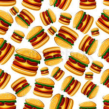 cheeseburger pattern. Perfect Cheeseburger Burger Sandwiches Background For Cafe Interior Or Menu Design With Cartoon  Seamless Pattern Of Fast Food Cheeseburgers Beef And Tomatoes  To Cheeseburger Pattern N