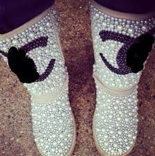 chanel uggs. white pearl uggs chanel